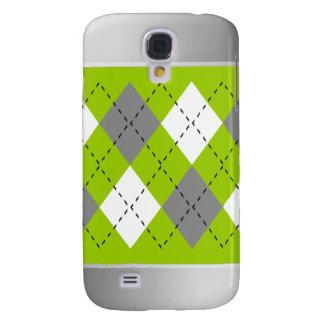 Gray, White On Green Argyle iPhone3 Case