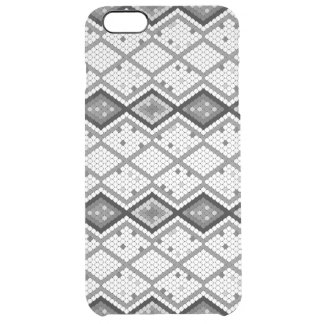 Gray & White Sequins Print Geometric Pattern 2 Clear iPhone 6 Plus Case