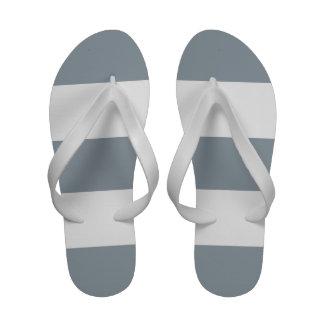 Gray White Stripe Women s Flip Flop Sandals