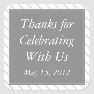 Gray & White Thank You Stickers and Gift Labels