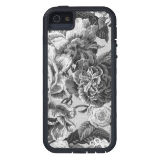 Gray & White Vintage Floral Toile Fabric No.1 iPhone 5 Cover