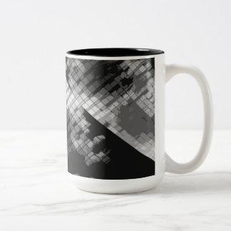 Gray Window Panes Two-Tone Coffee Mug