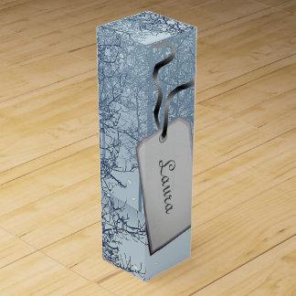Gray winter trees design wine box