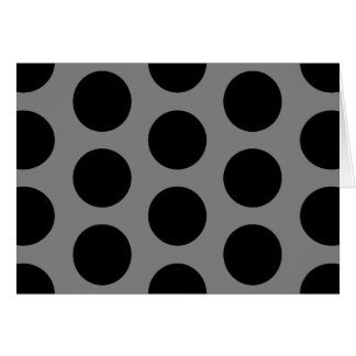 Gray with Black Dots Card