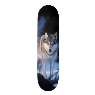 gray wolf, Canis lupus, in the foothills of the 3 Skateboard