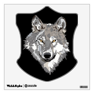 Gray Wolf Design Wall Sticker