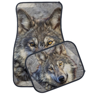 Gray Wolf Dignity Car Carpet