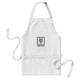gray wolf framed standard apron