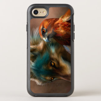 Gray wolf - red hawk - wolf art - indian wolf OtterBox symmetry iPhone 8/7 case