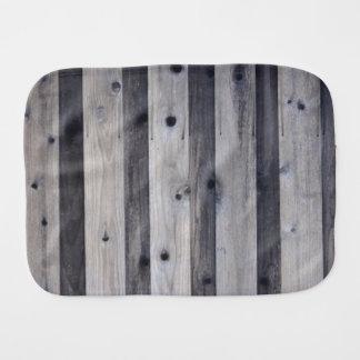 Gray Wood Fence Baby Burp Cloth