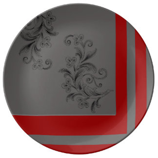 Gray x Red Plate