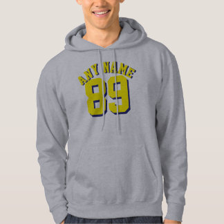 Gray & Yellow Adults | Sports Jersey Design Hoodie
