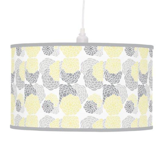 GRAY & YELLOW CANDLESTICK %PIPE% GLOSS HANGING PENDANT LAMPS