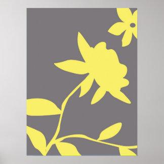 Gray & Yellow Poster