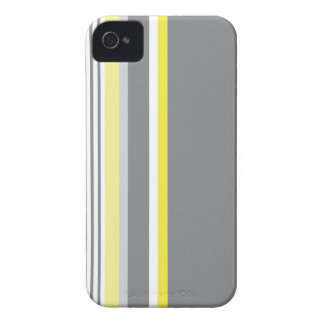 Gray (Yellow stripe) iPhone 4 Case