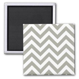 Gray Zig Zag Chevrons Pattern Square Magnet