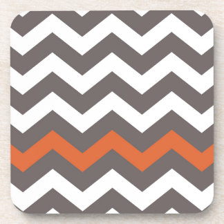 Gray Zigzag With Orange Striped Coaster