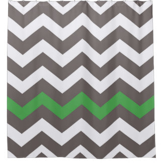 Gray Zigzags With Green Accent