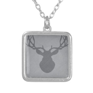 graydeer.png silver plated necklace