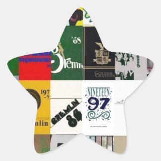GRAYDON - YEARBOOK COVERS STAR STICKER