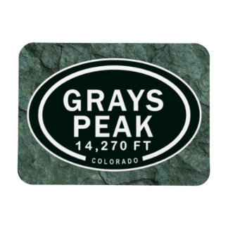 Grays Peak 14,270 FT CO Mountain Magnet