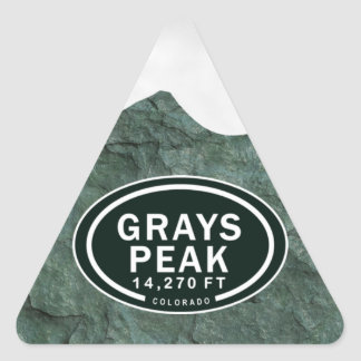 Grays Peak 14,270 FT Colorado Rocky Mountain Triangle Sticker