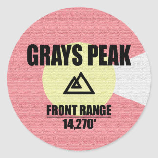 Grays Peak Classic Round Sticker