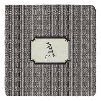 Grayscale Dakar Rectangular Monogram Trivet