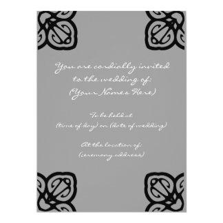 Grayscale Design Wedding Invite