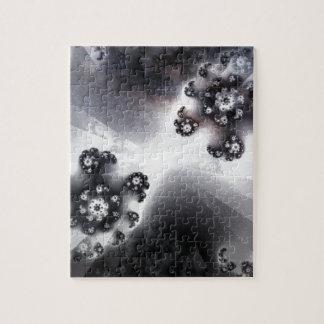 Grayscale Galaxy Jigsaw Puzzle