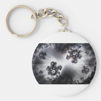 Grayscale Galaxy Keychain