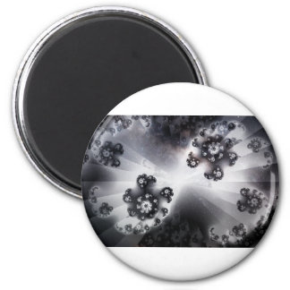 Grayscale Galaxy Magnet