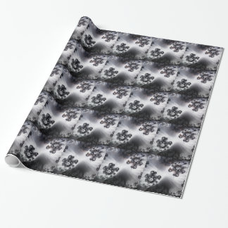 Grayscale Galaxy Wrapping Paper