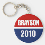 GRAYSON 2010 BASIC ROUND BUTTON KEYCHAIN