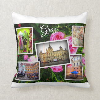 Graz Austria Travel Collection Throw Pillow