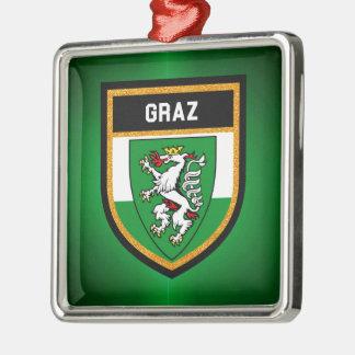 Graz Flag Metal Ornament