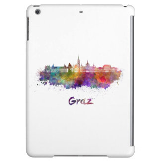 Graz skyline in watercolor iPad air covers