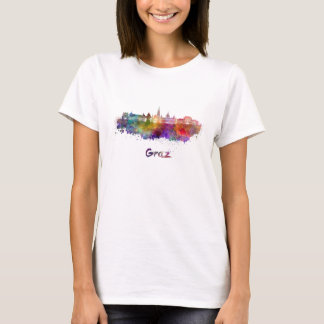 Graz skyline in watercolor T-Shirt