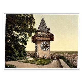 Graz, the clock, Styria, Austro-Hungary classic Ph Postcard