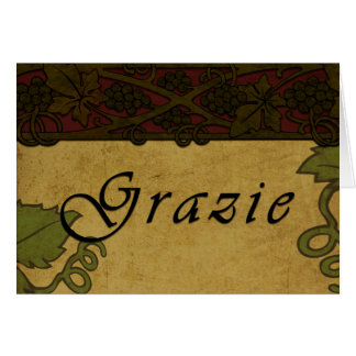 Grazie Grape Vines - Thank You Card