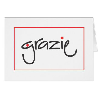 Grazie Thank you for personal or business use Card