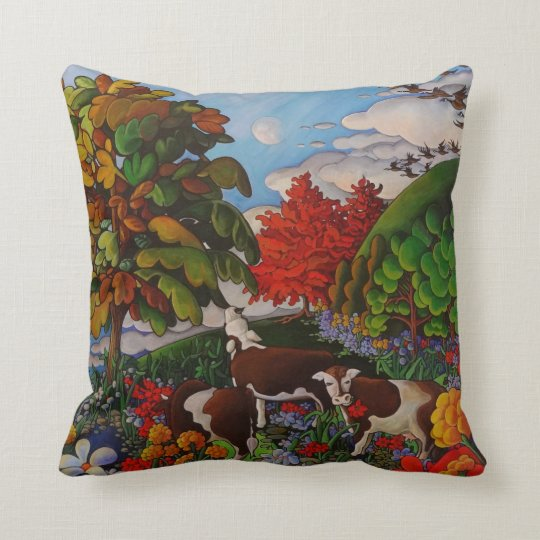"Grazing 16"" X 16"" Cotton Pillow"