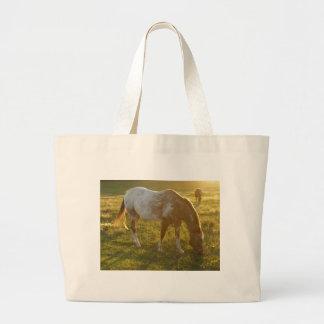 Grazing Appaloosa Horse Large Tote Bag