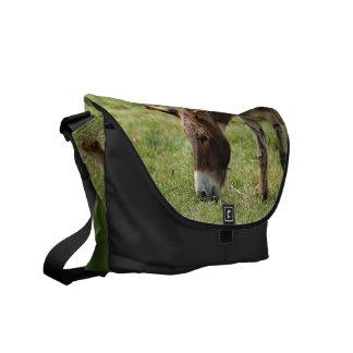 Grazing Donkey Messenger Bags