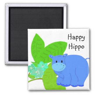 Grazing Happy Hippo Magnet