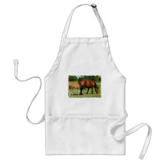 Grazing Horse Family Apron