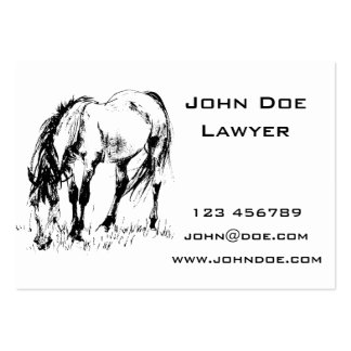 Grazing Horse Illustration Pack Of Chubby Business Cards