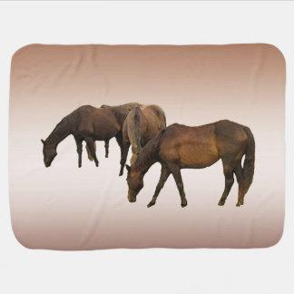 Grazing Horses Baby Blanket