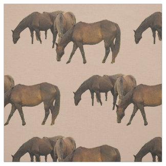 Grazing Horses Fabric