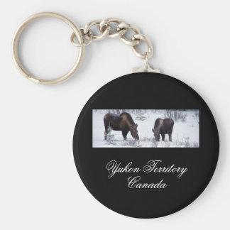 Grazing Moose; Yukon Territory, Canada Keychain